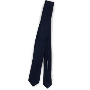 Cravatta slim blu uomo tinta unita