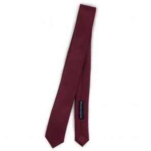 Cravatta slim bordeaux uomo tinta unita