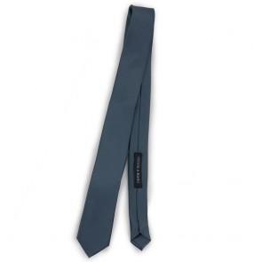 Cravatta slim grigia uomo tinta unita
