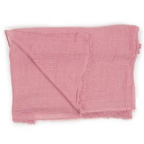 Sciarpa rosa antico in cotone