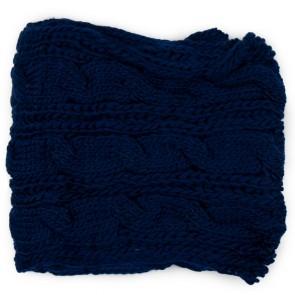 Scaldacollo a maglia treccine blu