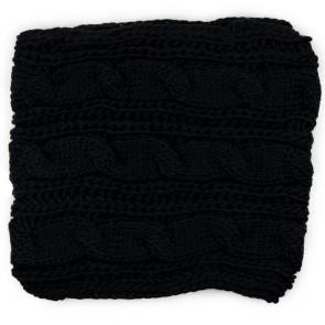 Sciarpa ad anello nera a maglia