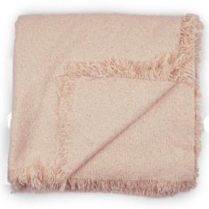 Sciarpa rosa antico quadrata tessuto bouclè