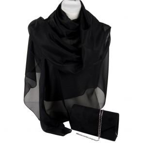 Stola e borsetta cerimonia nera