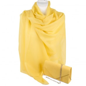Stola e borsetta cerimonia gialla