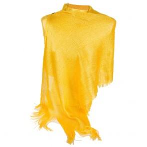 Stola gialla elegante lurex da cerimonia