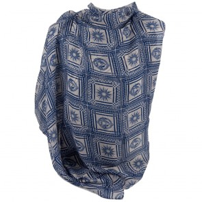 Foulard COVERI fantasia sole blu