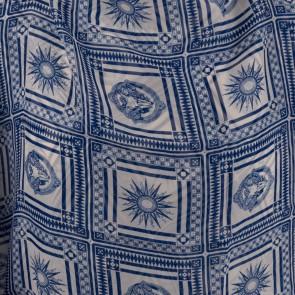 Foulard fantasia sole blu