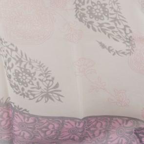 Foulard fantasia fiori rosa