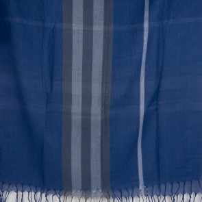 Sciarpa leggera uomo scozzese blu