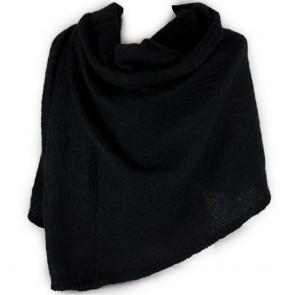Sciarpa nera donna grande bouclè
