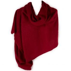 Sciarpa rossa donna grande bouclè