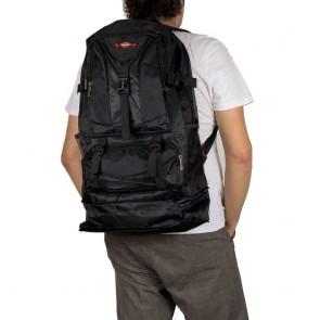 Zaino escursionismo grande nero con tasche e zip allungabile outfit