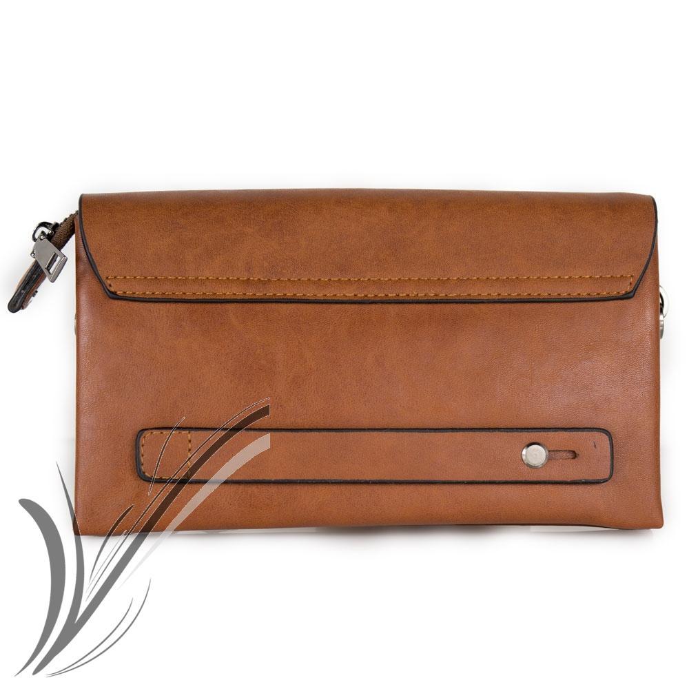miniatura 6 - Borsello a mano da uomo pochette polso piccola borsa porta documenti chiavi moda