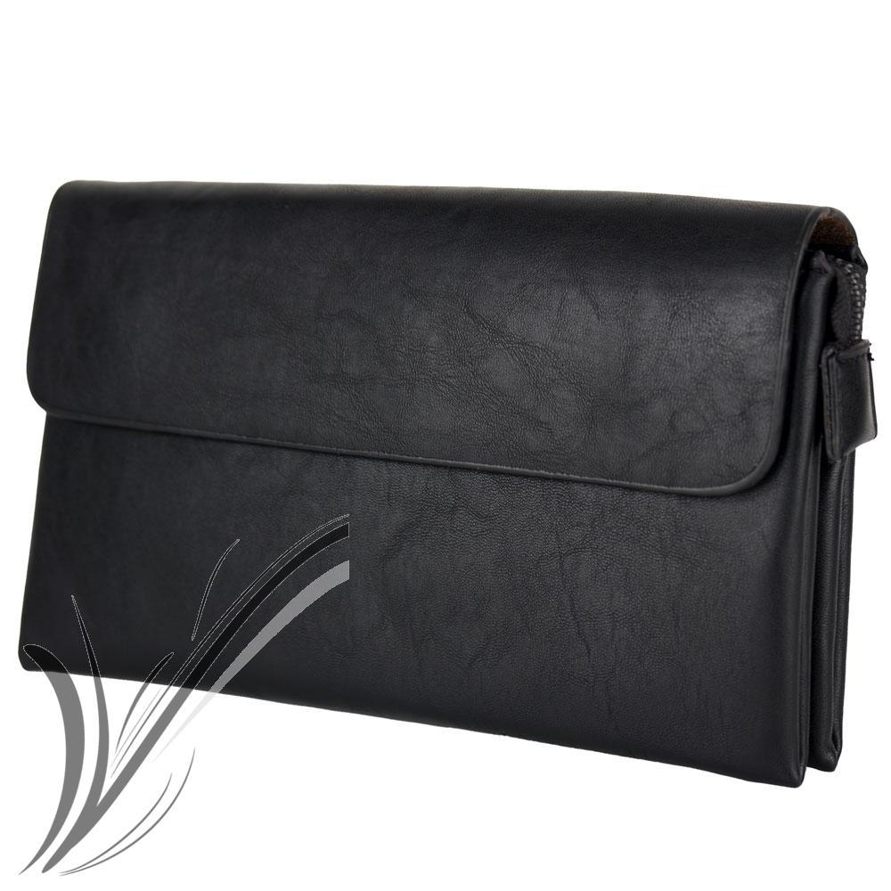 miniatura 9 - Borsello a mano da uomo pochette polso piccola borsa porta documenti chiavi moda