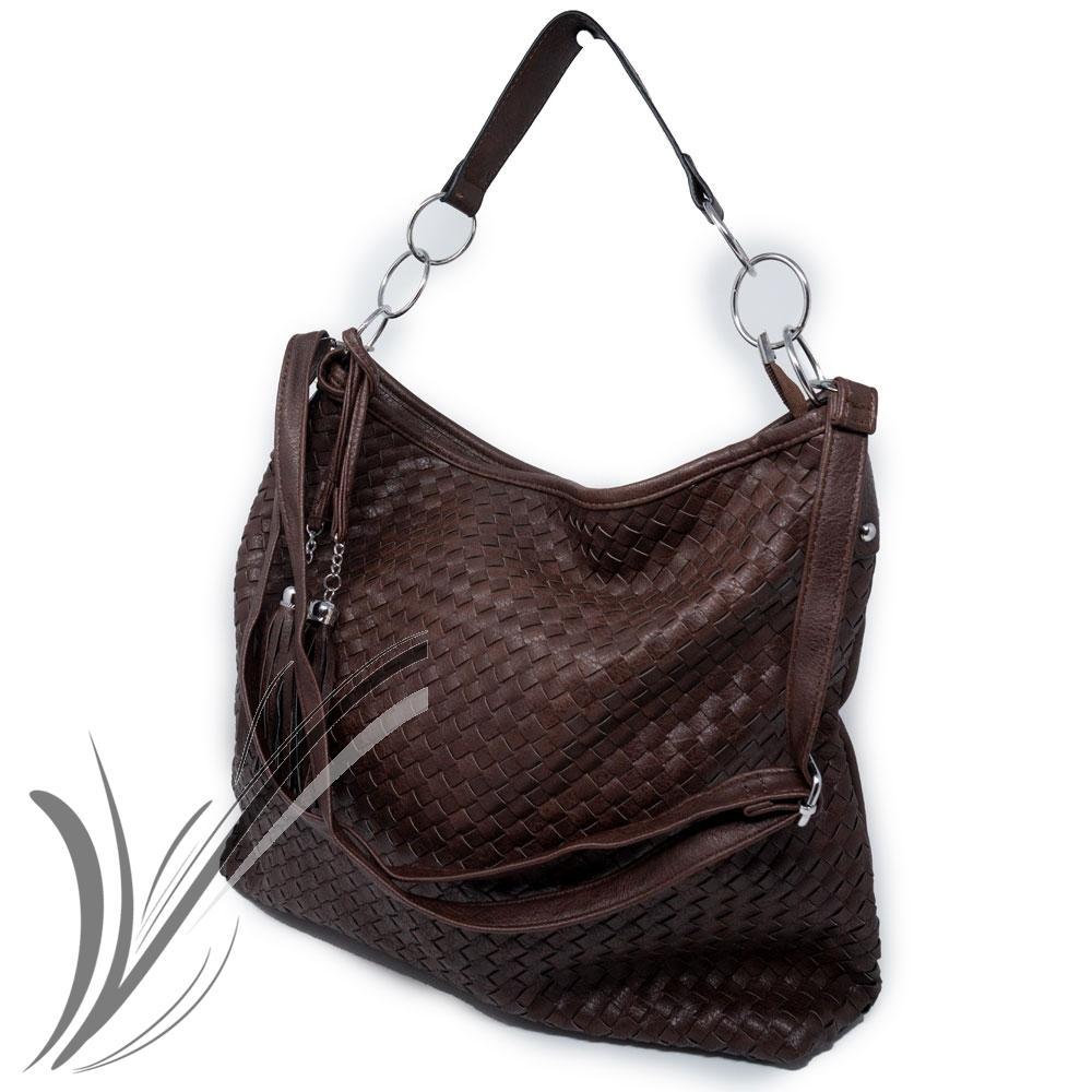 Borsa a spalla donna intrecciata pelle PU capiente shopper hobo bag ... 866d6479bc7