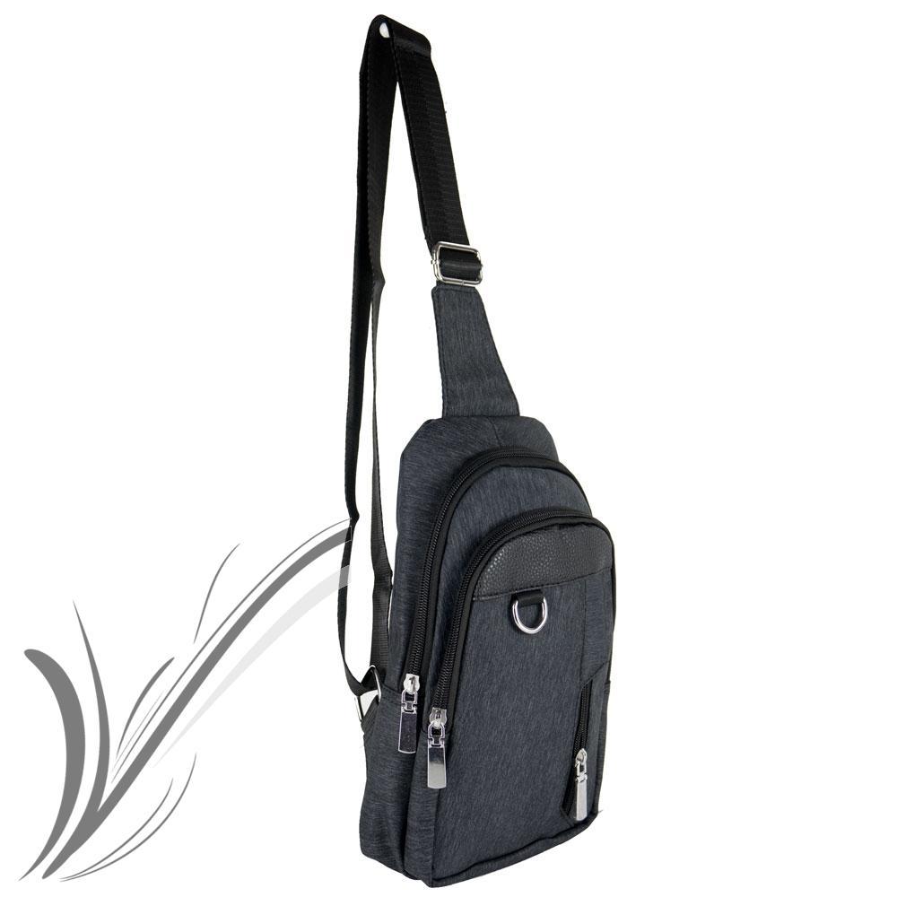 Borsa zaino marsupio monospalla con borchie da uomo viaggio moto ragazzo tracolla zainetto casual borsello borchiato nero blu piccolo portadocumenti mono spalla Nero