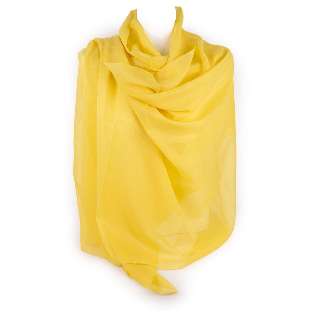 design senza tempo 22682 d61da Dettagli su Stola gialla cerimonia coprispalle elegante donna fulard  scialle estivo leggero