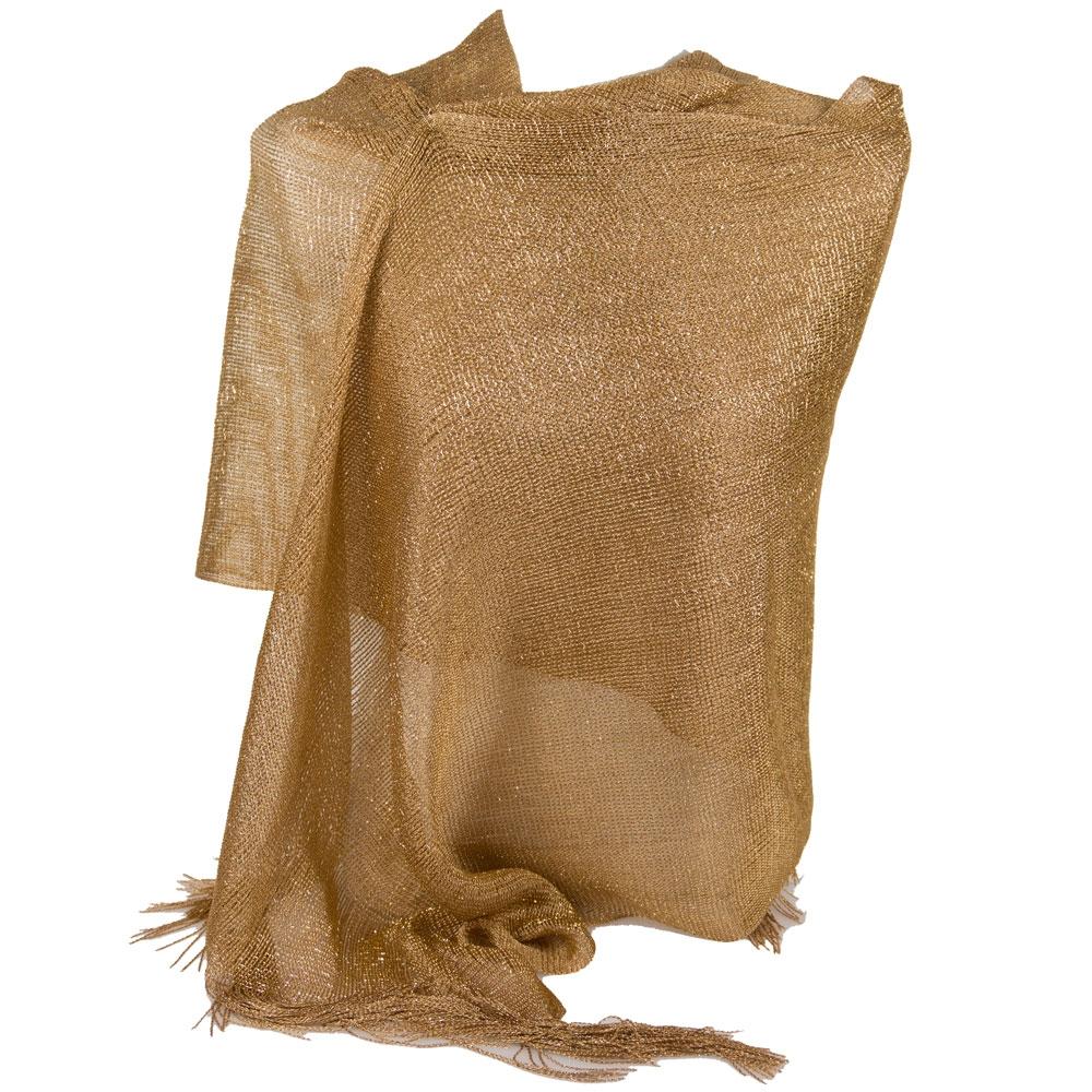aspetto dettagliato 2a35e 31970 Dettagli su Stola oro cerimonia elegante lurex da donna ragazza coprispalle  a rete estivo